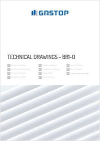 Mechanische schwenktür BR1-O - technical drawings