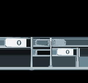Mechanische Schwenkture BR1 Gastop