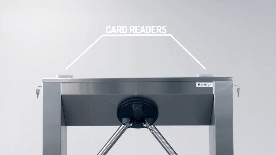 turnstile Connecting card reader
